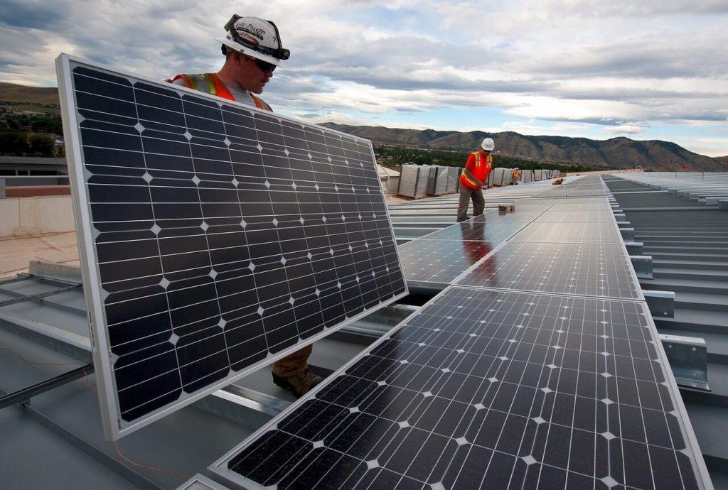placas solares industria
